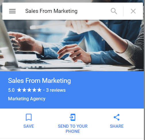 Google listing to help generate leads