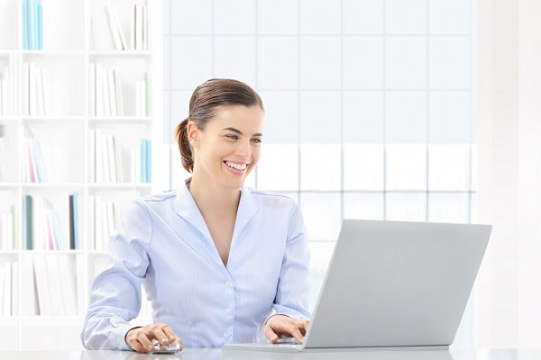 business owner happy with website lead generation